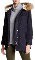 Doma Waterproof Twill Genuine Non-Dyed Raccoon Fur Trim Jacket