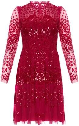 Needle & Thread Aurora Sequin Lace Sheath Dress