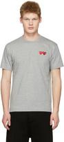 Comme des Garcons Grey Double Hearts T-shirt