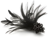 Accessorize Facetted Bead & Feather On Clip