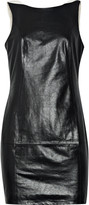 Theyskens' Theory Delia glazed-leather mini dress