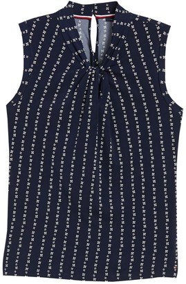 Tommy Hilfiger Knotted Neck Sleeveless Blouse