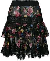 Dolce & Gabbana floral lace hem skirt - women - Silk/Cotton/Polyamide/Spandex/Elastane - 40