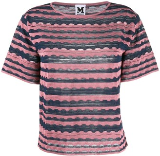 M Missoni patterned knitted top