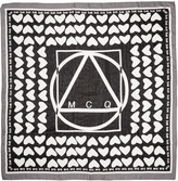 McQ by Alexander McQueen Black & White Heart Scarf