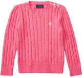 Ralph Lauren 2-6X Cable-Knit Cotton Sweater