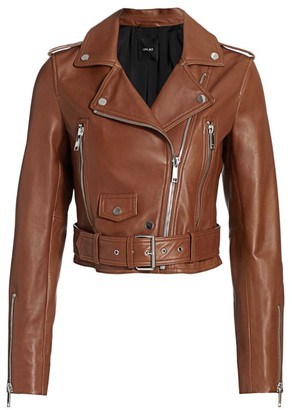 LTH JKT Mya Leather Cropped Moto Jacket