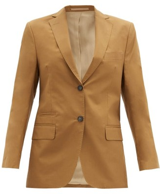 Officine Generale Charlene Single-breasted Cotton-twill Jacket - Camel