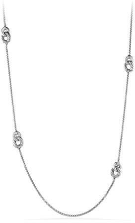 David Yurman Belmont Curb Link Necklace with Diamonds