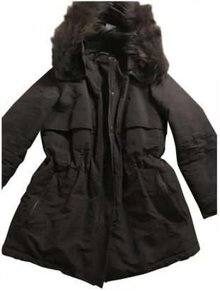 The Kooples Black Cotton Coat for Women