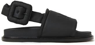 MM6 MAISON MARGIELA Embossed Coated-canvas Slingback Sandals