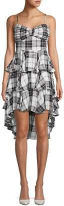 Q&A Plaid Tiered Fit-&-Flare Dress