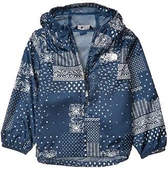 The North Face Kids Novelty Flurry Wind Jacket (Toddler) (Burnt Olive Green Ponderosa Print) Kid's Clothing