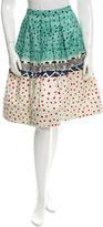 Oscar de la Renta Printed A-Line Skirt w/ Tags
