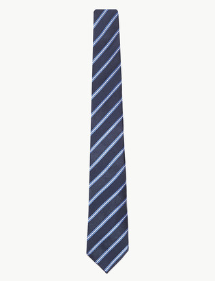 Marks and Spencer Slim Striped Silk Tie
