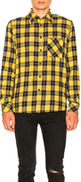 Nudie Jeans Sten Block Check Button Down in Yellow
