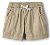 Lands' End Little Girls Woven Solid Pull On Shorts-Fresh Lavender