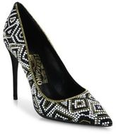Salvatore Ferragamo Flore Mosaic Leather Pumps
