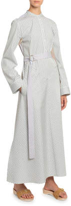 Boon The Shop Striped Belted Maxi Shirtdress