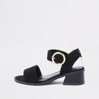 River Island Girls Black flared heel sandals