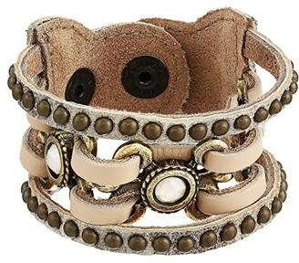 Leather Rock Birdie Bracelet (Silver/Gold) Bracelet