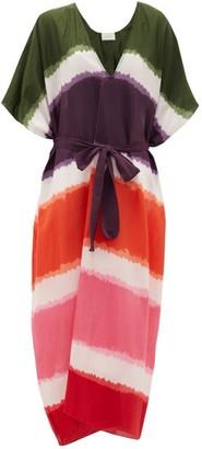 Marios Schwab On The Island By Arkoi Tie-dye Cotton-blend Kaftan - Womens - Multi