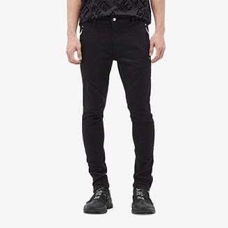 Versace Moto Skinny Fit Biker Jeans (Black) Men's Jeans