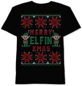 JEM Men's Merry Elfin' Christmas Graphic-Print T-Shirt