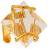 Devon Leigh Adjustable Quartz Pyramid Ring