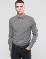 Sisley Slim Fit Shirt in Mini Gingham Print