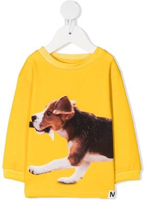 Molo Dog-Print Organic-Cotton Sweatshirt