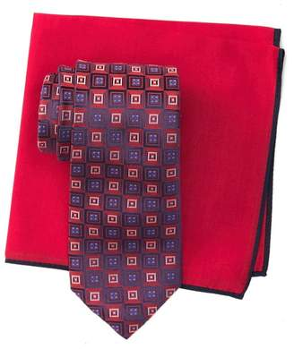 Ted Baker Silk Gradient Square Tie & Pocket Square Set
