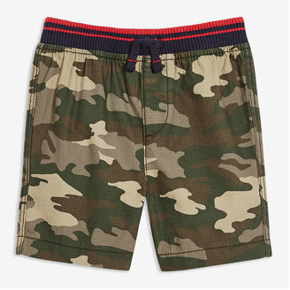 Joe Fresh Baby Boys' Print Rib Waist Shorts, Dark Green (Size 3-6)