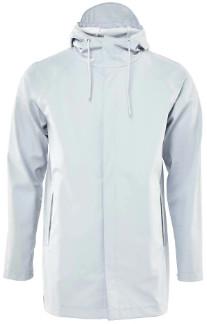 Rains Ice Grey 1267 Short Coat - XXS/XS | light grey - Light grey
