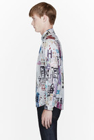 Paul Smith White Painting print tailor-fit shirt