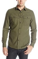 G Star Men's Rovic Longsleeve Button-Up Shirt In Tail Herringbone