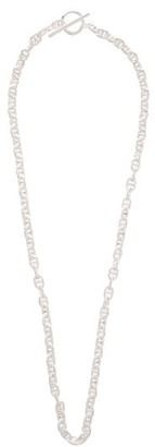All Blues - Pill Sterling-silver Chain-link Necklace - Silver