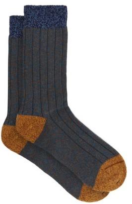 Pantherella Scott Nichol Burghley Socks - Blue