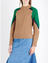 Sacai Cable knit wool jumper