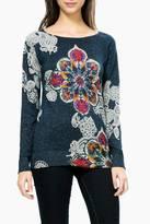 Desigual Sparkling Patterned Sweater