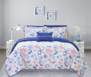 Chic Home Moselle 8 Piece Queen Bed in a Bag Quilt Set Bedding