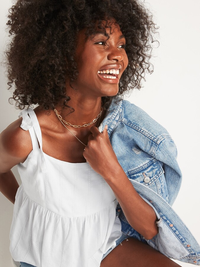 Thumbnail for your product : Old Navy Tie-Strap Waist-Defined Swing Cami for Women