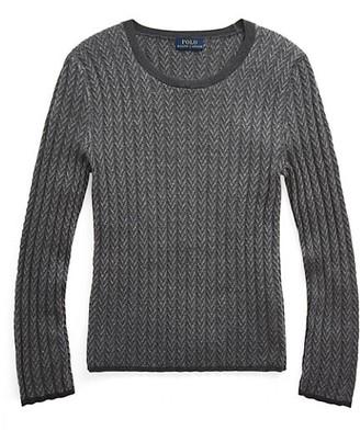 Polo Ralph Lauren Ribbed Herringbone Knit Sweater