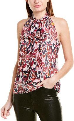Prabal Gurung Tie-Neck Silk Top