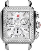 Michele Women's 'Deco Diamond' Diamond Dial Watch Case, 33Mm X 35Mm