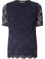 Dorothy Perkins Womens **Maternity Navy Floral Lace Front T-Shirt- Navy