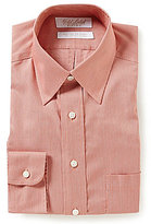 Roundtree & Yorke Gold Label Striped Classic Fitted Non-Iron Dobby Dress Shirt