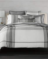 Hotel Collection CLOSEOUT! Linen Plaid King Duvet Cover, Created for Macy's