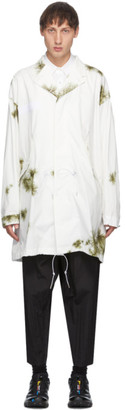Fumito Ganryu White Lapelled Modern Coat