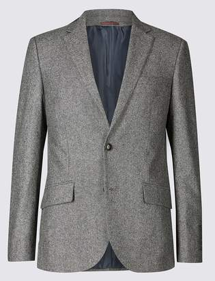 M&S CollectionMarks and Spencer Textured Tailored Fit Jacket